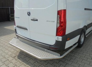 Opstaptrede met corners/ rear-bar Mercedes-Benz Sprinter vanaf 2006