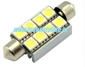 42mm Canbus festoon SMD LED C5W wit 8 leds